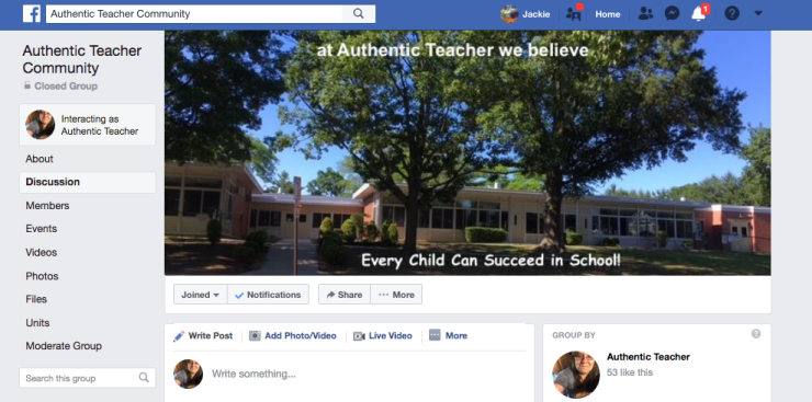 Authentic Teacher Community Facebook Group