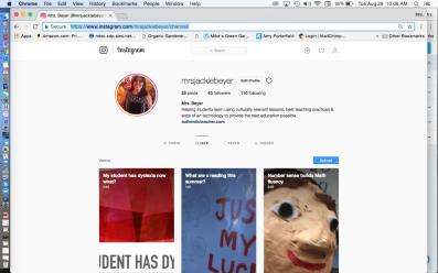 Mrs. Jackie Beyer's InstagramTV channel