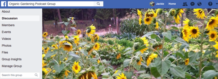 Organic Gardening Podcast Facebook Group